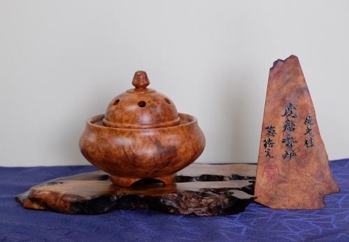 42 屋久杉虎杢香炉