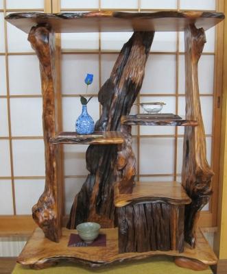 15 屋久杉天然飾り棚