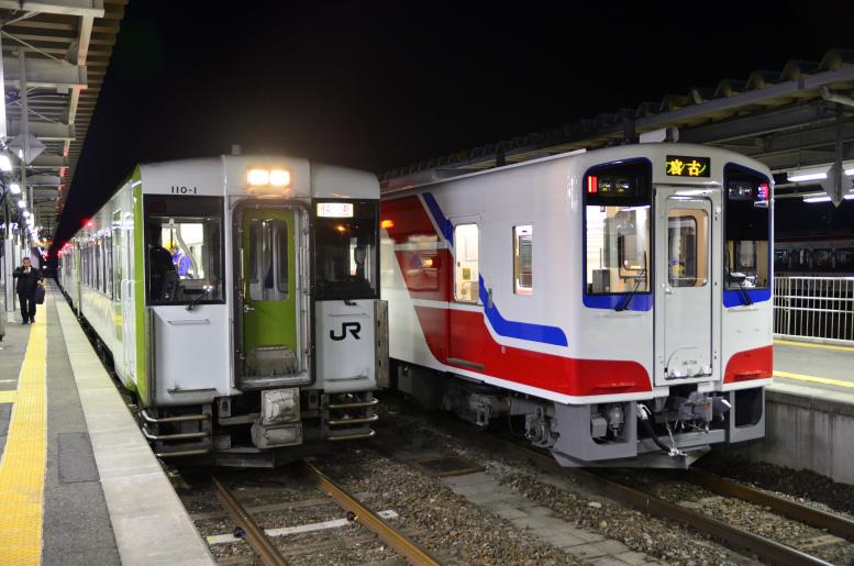 4/3-5 青春18きっぷで東北ローカル線乗りつぶし その2(花巻→釜石) 快速はまゆりの指定席で釜石へ