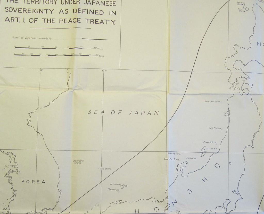 wst1906170001-p2_竹島を日本領から外した地図(日本国際問題研究所提供)