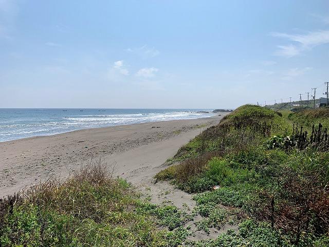 小径から海岸へ