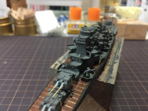 摩耶 艦橋製作中IMG_4446◆模型製作工房 聖蹟