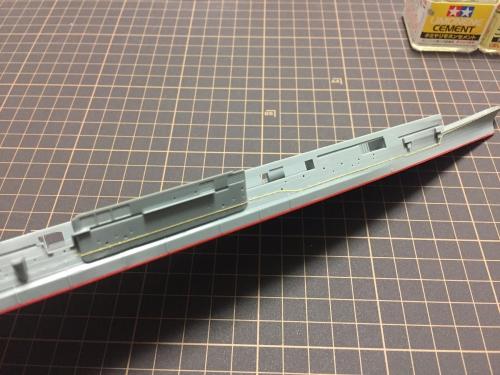 舷外電路 設置中1 【信濃】 ◆模型製作工房 聖蹟