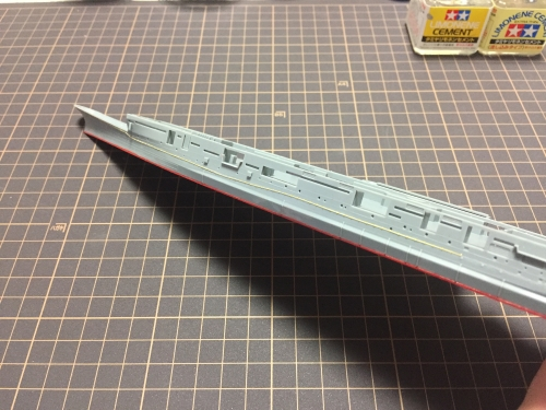 舷外電路 設置中2 【信濃】 ◆模型製作工房 聖蹟