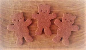 くまクッキーチョコ加工