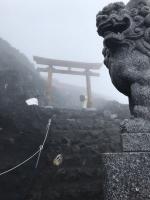 富士山頂上久須志神社鳥居