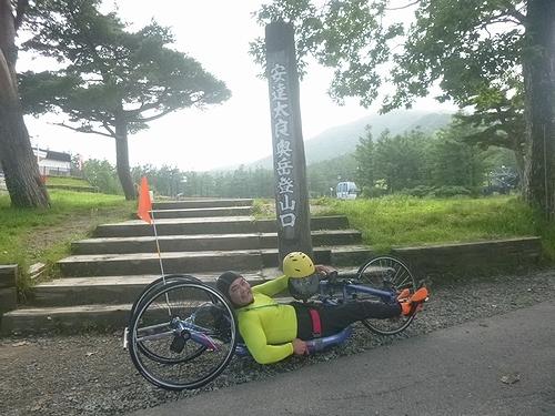 安達太良ヒルクライム ハンドバイク