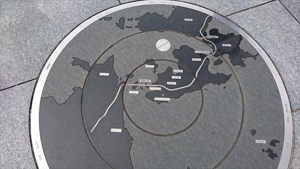 亀老山位置図