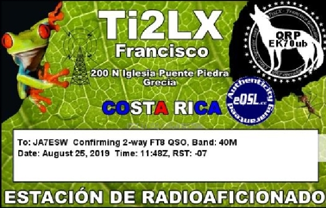 TI2LX COSTA RICA
