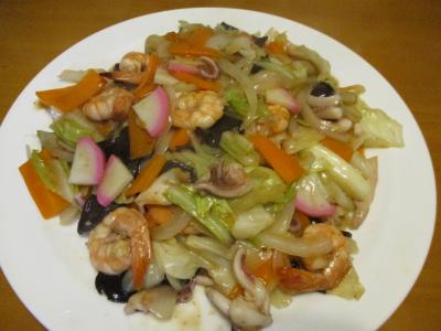 010713魚介と野菜で八宝菜風