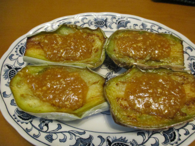 010810揚げナスのピーナッツ味噌ダレ
