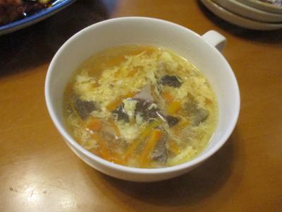 010816牛筋の茹で汁スープ