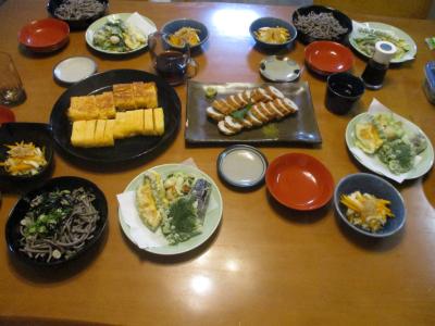 010818蕎麦屋の夕食