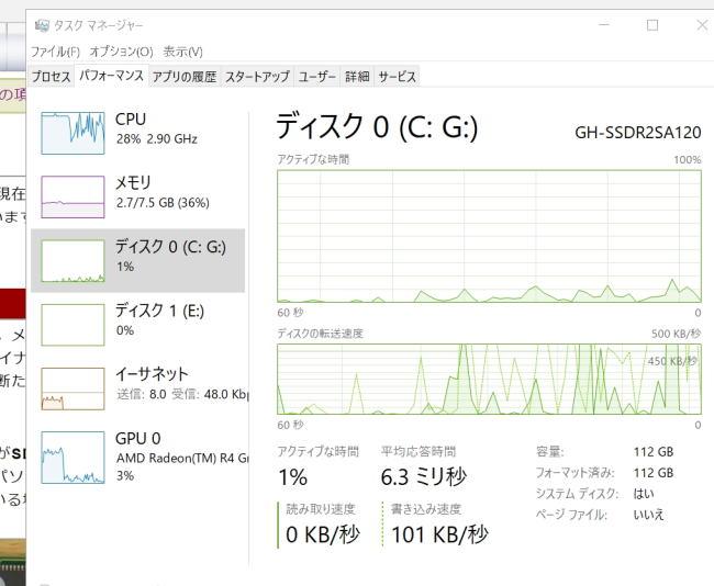 SSD負荷