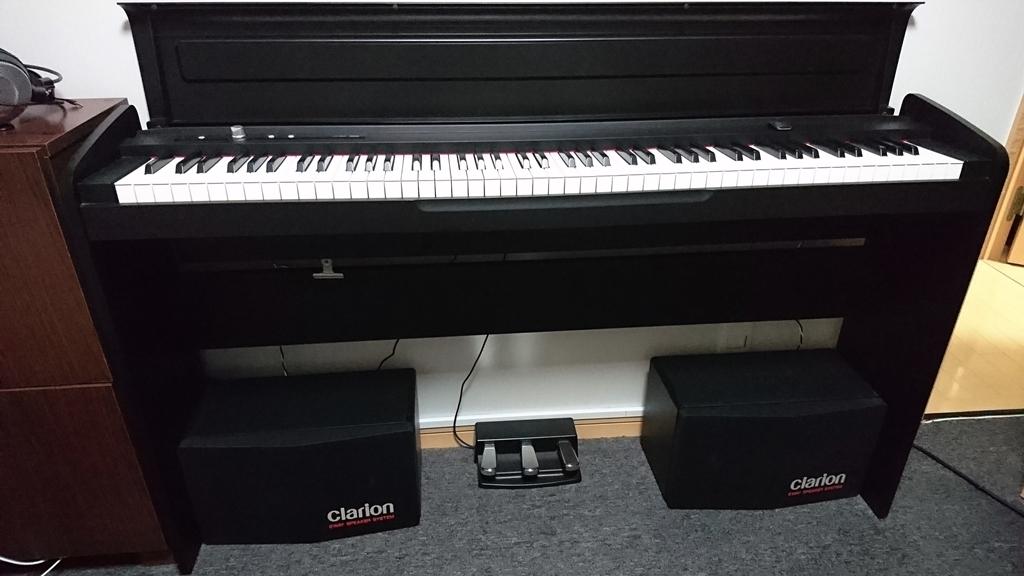 KORG 電子ピアノ LP-180 のスピーカーを交換した