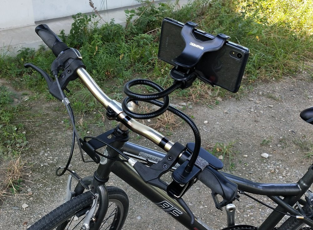 【HAWEEL】 universal mobile  Phone Holder を自転車に装着してみた