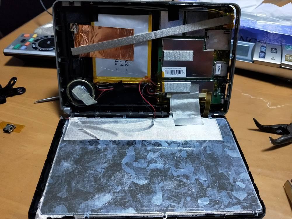 ポータブルナビ AID AN-782FR 分解・修理