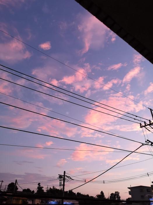 昨日の夕焼け雲