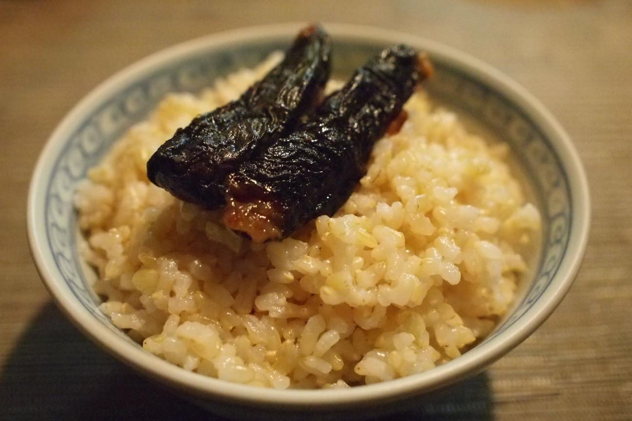 シソ味噌玄米ごはん!