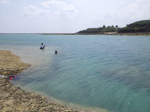 奥武島で泳ぎ釣り (5)