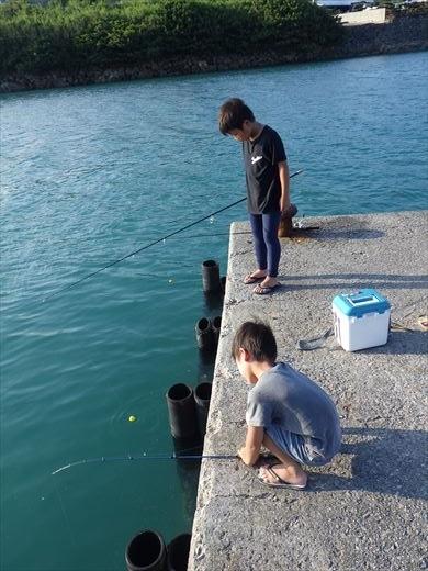 奥武島の堤防で (12)