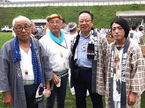 須賀神社<天王祭>親子対面神事!②