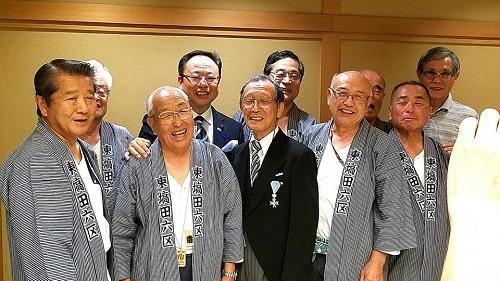 尾引壯一 氏<瑞宝単光章 叙勲 受章祝賀会>!②