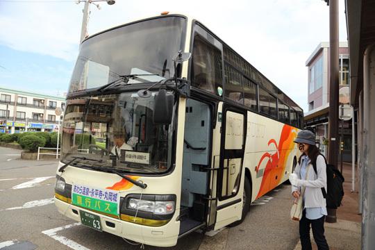 丸岡城に行くバス