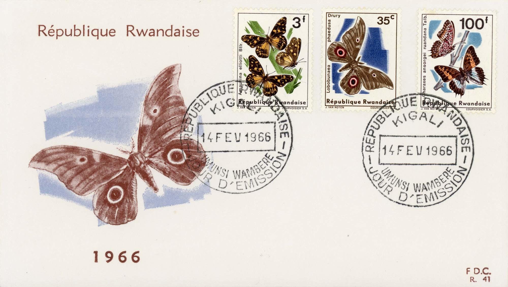 Rwanda:1966FDC-2