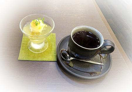 0703柚子ゼリ-・夏珈琲