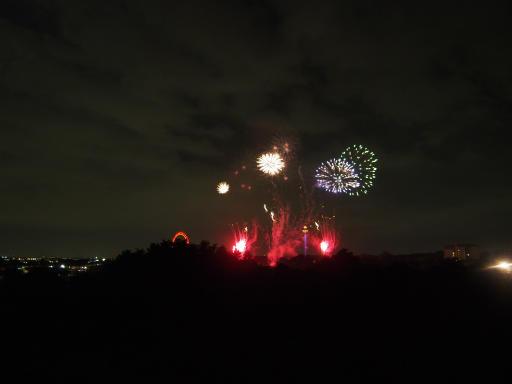 20190812・西武園花火最終日3-09・20時7分・西武園メイン