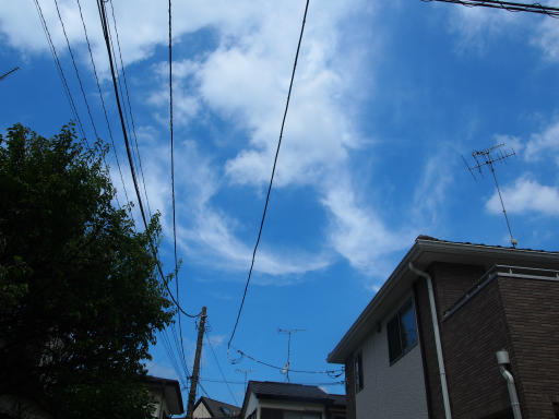 20190824・廣谷諏訪神社空01・我が家から北の空