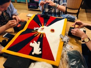 5回目 チベット国旗の創り5回目-1