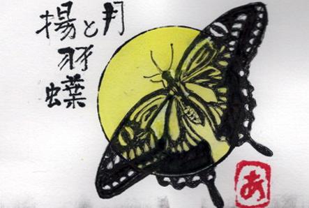 月と揚羽蝶