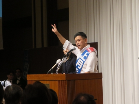 「上月良祐」参議院議員選挙候補 出陣式②_R