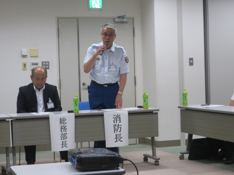 「石岡市消防・防災危機管理研修会」本県の防災・危機管理体制と消防の広域応援体制について、服部隆全部長⑪