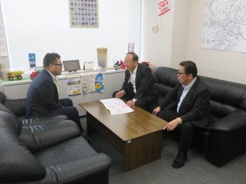 令和1年7月23日「道祖神峠トンネル化実現の為に!」土木・営業戦略部長要望⓪