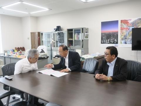 令和1年7月23日「道祖神峠トンネル化実現の為に!」土木・営業戦略部長要望⓪1