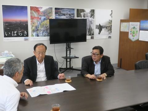 令和1年7月23日「道祖神峠トンネル化実現の為に!」土木・営業戦略部長要望⓪2