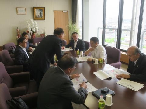 「道祖神峠トンネル化土浦市長・議長、つくば市長・議長協力依頼」⑧