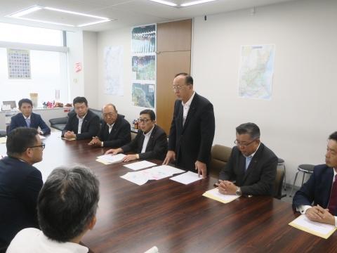 「道祖神峠トンネル整備促進期成同盟」土木部長・営業戦略部長要望②