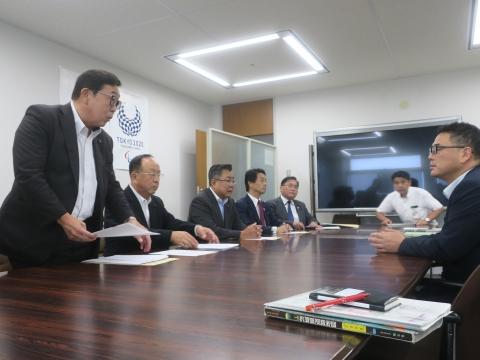 「道祖神峠トンネル整備促進期成同盟」土木部長・営業戦略部長要望③