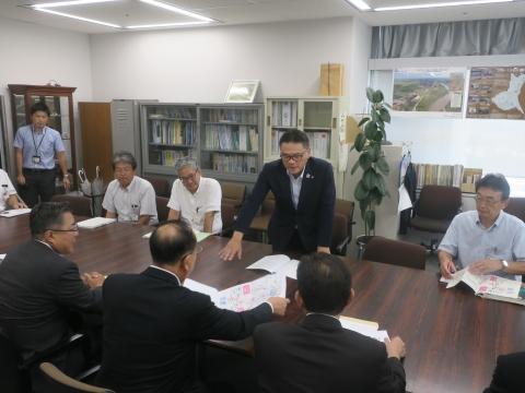 「道祖神峠トンネル整備促進期成同盟」土木部長・営業戦略部長要望④