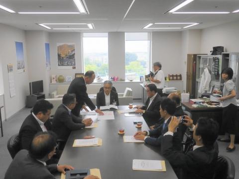 「道祖神峠トンネル整備促進期成同盟」土木部長・営業戦略部長要望⑦