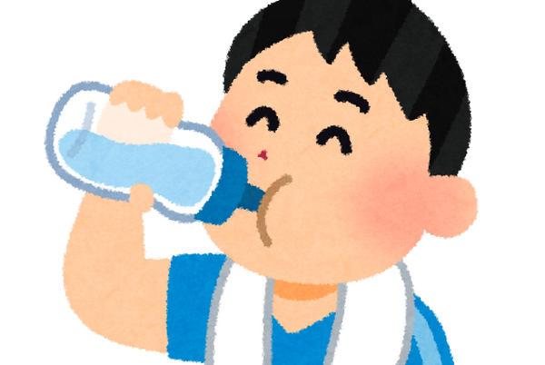 水分補給 水を飲む いらすとや