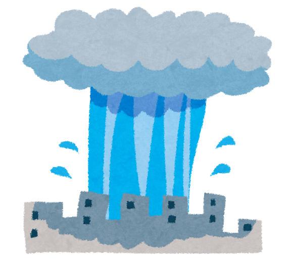 ゲリラ豪雨 いらすとや