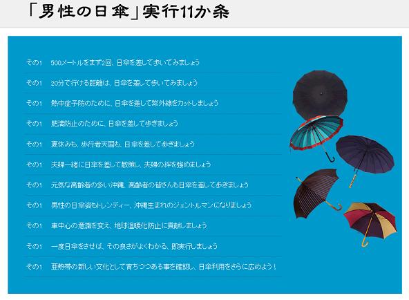 60 沖縄 男性日傘11か条
