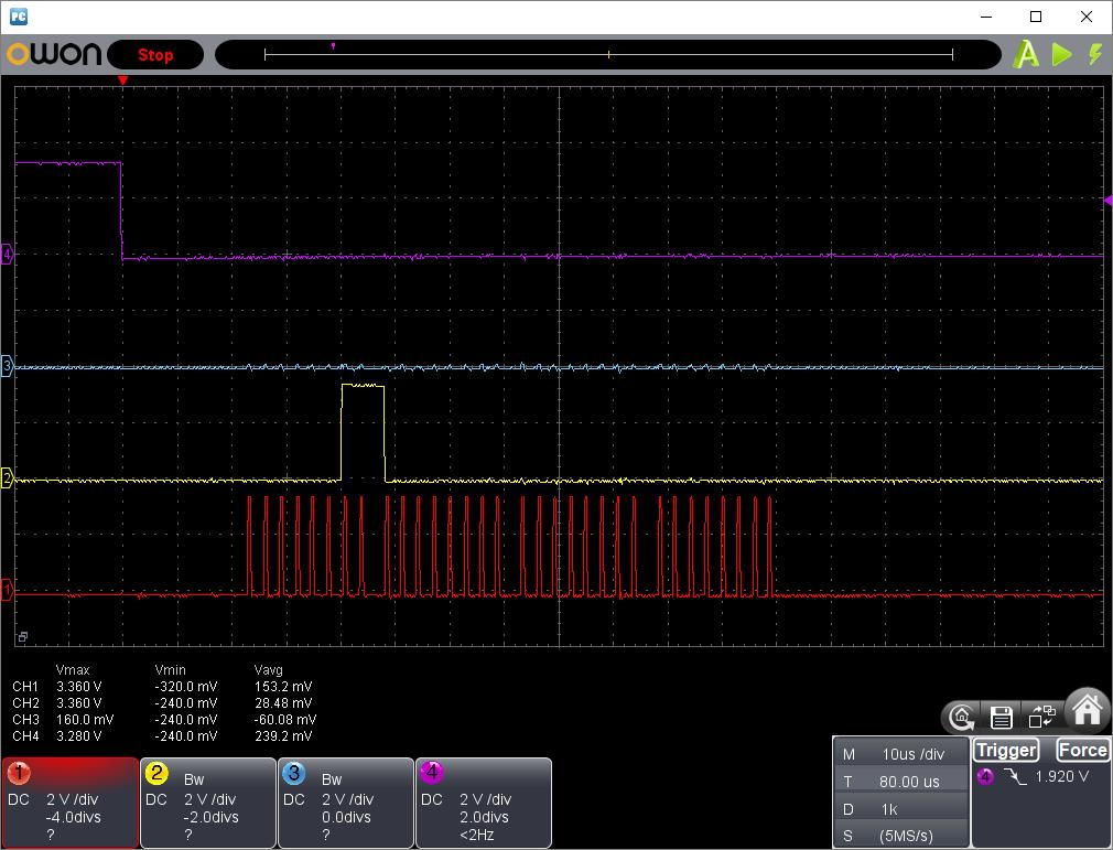 PICプログラマーでW25Q16の読み込み不具合の改修(SPI信号波形2)