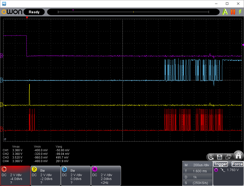 PICプログラマーでW25Q16の読み込み不具合の改修(SPI信号波形3)