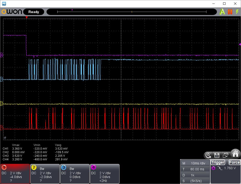 PICプログラマーでW25Q16の読み込み不具合の改修(SPI信号波形4)